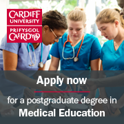 Apply now for a postgraduate degree in Medical Education
